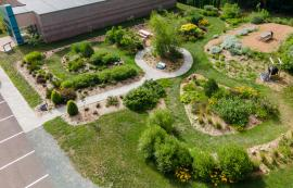 Aerial view of garden from drone by 2nd Sandbar Productions - 2020