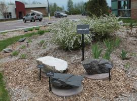 Metamorphic rocks in the Phyllis and John Seaman Garden - June 2017