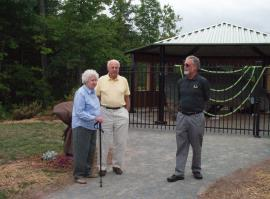 Donors Jane and John Matz at dedication of the Copper Pavilion with museum Executive Director Ted Bornhorst.