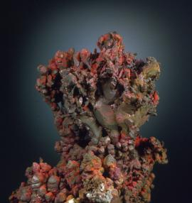 Copper, Laker Pocket, Lake Superior off Eagle River, Keweenaw County, Michigan.The Laker Pocket was found on the bottomlands of Lake Superior in 2008. Donor: members of the A. E. Seaman Mineral Museum. Field of 12.5 cm. Photo by J. Jaszczak. (DM 30118)