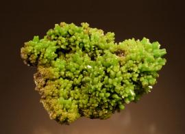 Pyromorphite, Daoping Mine, Guangxi, China. The Daoping Mine has produced some of the best pyromorphite specimens known. Specimen 10 cm wide. Photo by G. Robinson. (DM 27568)