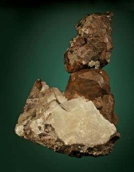 Copper, Resolute Mine, Keweenaw County, Michigan. The only known significant copper specimen from this early and short-lived fissure mine. The Resolute Mining Company presented the specimen to the Philadelphia Academy of Natural Sciences in 1867. Donor: A. Moretta. Specimen 19 cm tall. Photo by G. Robinson. (DM 30948)