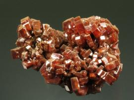 Vanadinite, ACF Mine, Mibladen, Morocco. Sharp orange vanadinite crystals from the world's premier locality for the species. Specimen 6 cm wide. Photo by G. Robinson. (DM 19804)